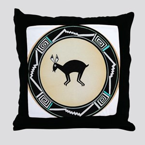 MIMBRES BLACK JACK RABBIT BOWL Throw Pillow