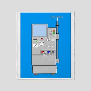 dialysis machine CP blue Throw Blanket