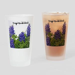 Texas Bluebonnets Drinking Glass