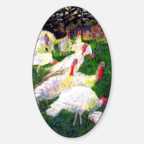 Claude Monet The Gobbler Sticker (Oval)
