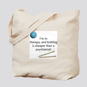 I'm in Therapy Knitting Tote Bag