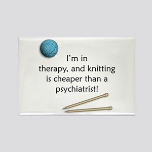 I'm in Therapy Knitting Rectangle Magnet
