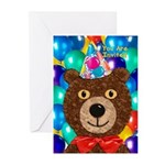 Teddy Bear Party Greeting Cards (Pk of 10)