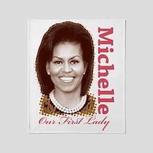 Michelle Obama Throw Blanket