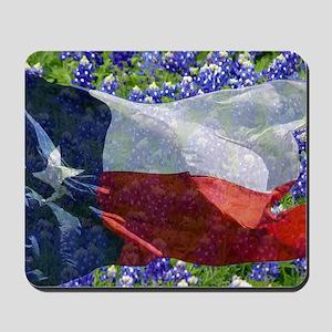 Texas flag bluebonnet card Mousepad