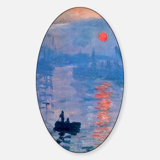 Monet Impression Sunrise Sticker (Oval)