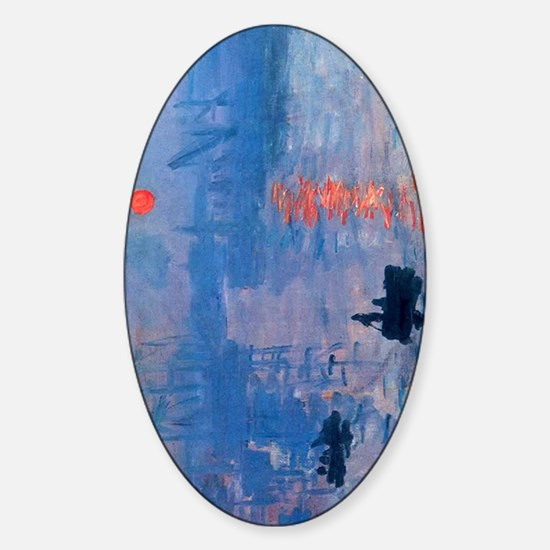 Claude Monet Impression Sunrise Sticker (Oval)