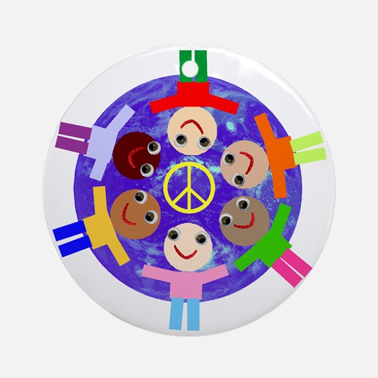 World Peace Ornament (Round)