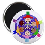 """World Peace 2.25"""" Magnet (100 pack)"""