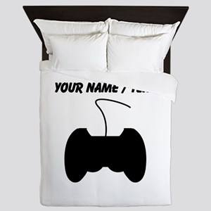 Custom Video Game Controller Queen Duvet