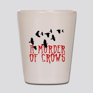 A Murder of Crows Birding T-Shirt Shot Glass