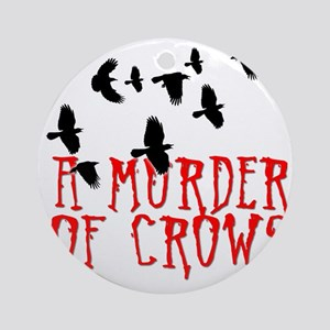 A Murder of Crows Birding T-Shirt Round Ornament