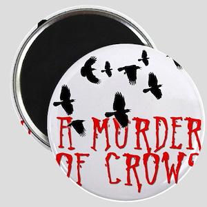 A Murder of Crows Birding T-Shirt Magnet