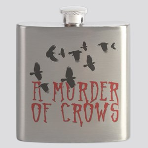 A Murder of Crows Birding T-Shirt Flask