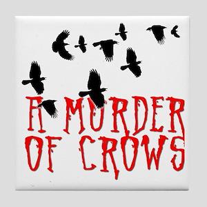 A Murder of Crows Birding T-Shirt Tile Coaster