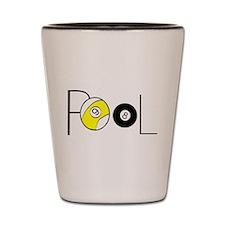 Word Pool Shot Glass