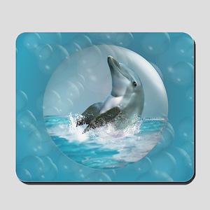Bubble Dolphin Mousepad