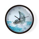 Bubble Dolphin Wall Clock