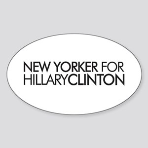 New Yorker for Hillary Clinto Oval Sticker
