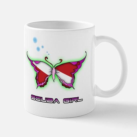 Butterfly Scuba Girl Mug