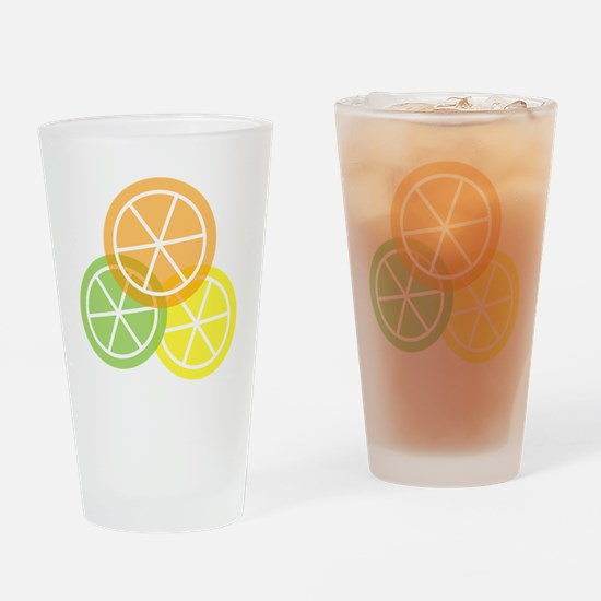 Flip Flops - Summer Citrus - Transp Drinking Glass