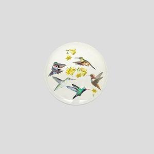 HUMMINGBIRDS AND TRUMPET PLANT Mini Button