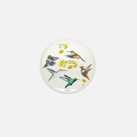 HUMMINGBIRDS AND TRUMPET PLANT Mini Button