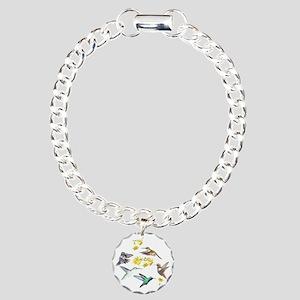 HUMMINGBIRDS AND TRUMPET Charm Bracelet, One Charm