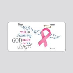 My Wife An Angel - Aluminum License Plate