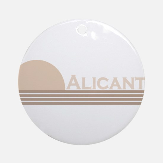 Alicante, Spain Ornament (Round)