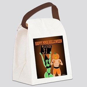 MMA Halloween Fighter and Ring Gi Canvas Lunch Bag