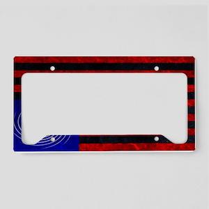indelve disOBEDIENCE blue License Plate Holder