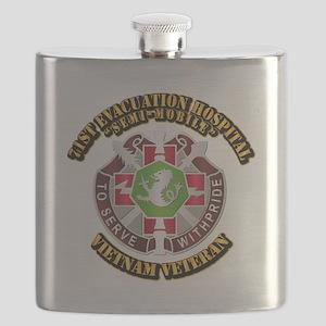 Army - 71st Evacuation Hospital Flask