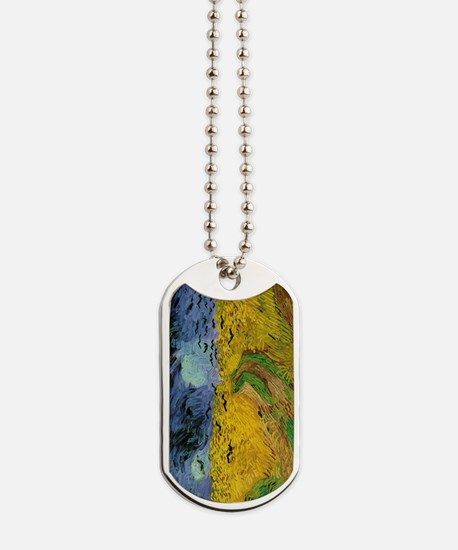 Van Gogh Wheat Field With Crows Dog Tags