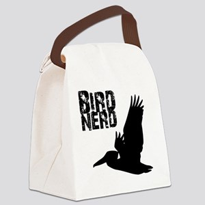 Bird Nerd (Pelican) Birding T-Shi Canvas Lunch Bag