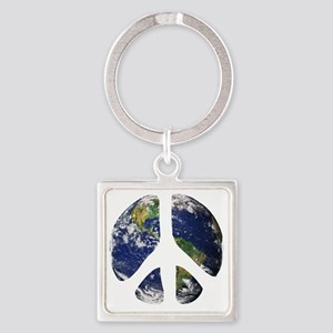 World Peace Square Keychain