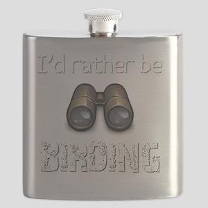 Id Rather Be Birding Birder T-Shirt Flask