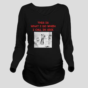 croquet Long Sleeve Maternity T-Shirt