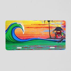 Drippy Island Aluminum License Plate