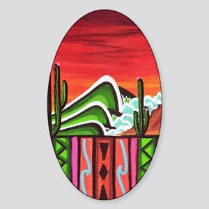 Cactus Point Sticker (Oval)