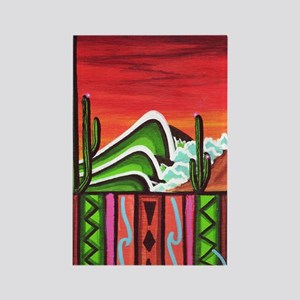 Cactus Point Rectangle Magnet