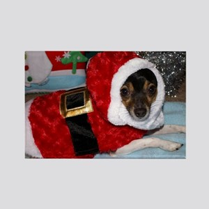 Toy Fox Terrier Christmas card Rectangle Magnet
