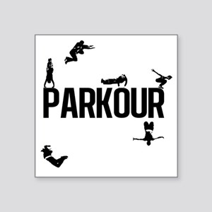 "Parkour Square Sticker 3"" x 3"""