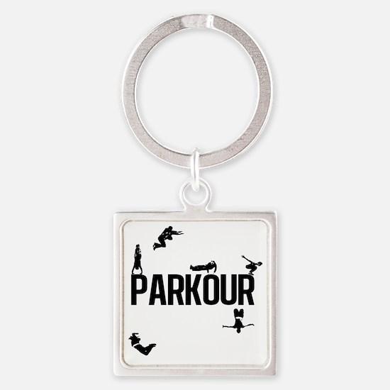 Parkour Square Keychain