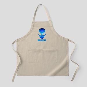 Blue Stripe Believe Alien BBQ Apron