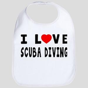 I Love Scuba Diving Bib