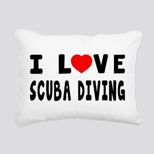 I Love Scuba Diving Rectangular Canvas Pillow