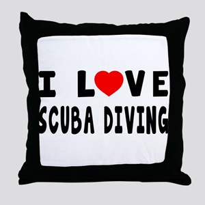 I Love Scuba Diving Throw Pillow