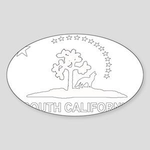 South California Flag Sticker (Oval)