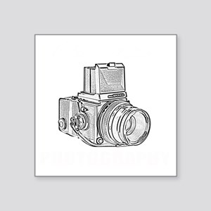 """Old school photography Square Sticker 3"""" x 3"""""""